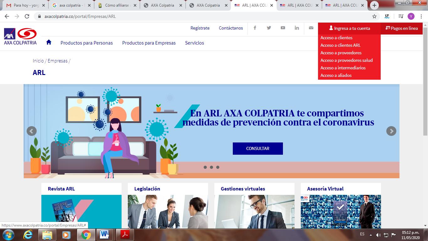 afiliación ARL COLPATRIA 1