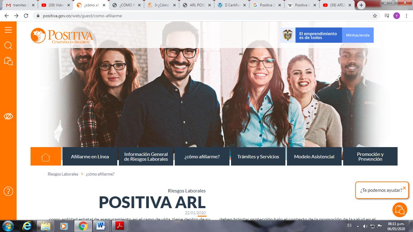 afiliación ARL positiva 1